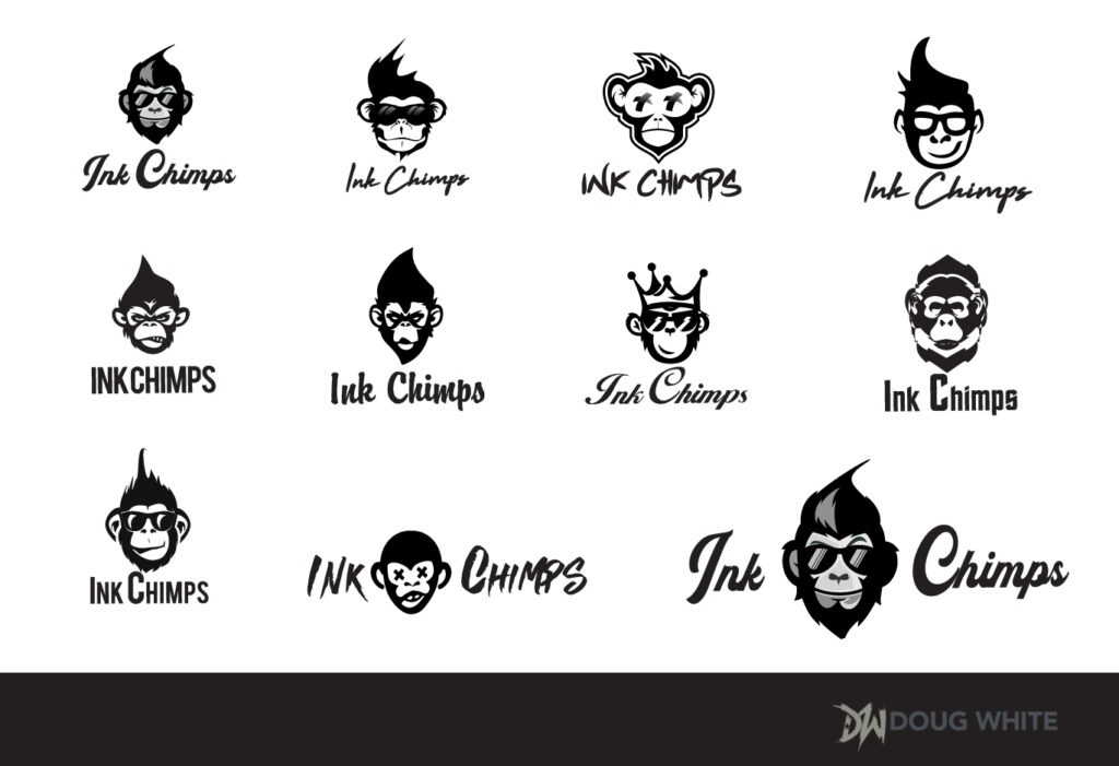 Ink Chimps Logos